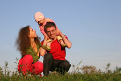 Family with baby Royalty Free Stock Photos