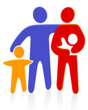 Family with baby. Parents people Stock Photo