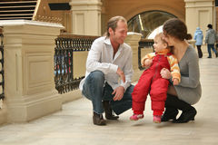 Family with baby Royalty Free Stock Photography