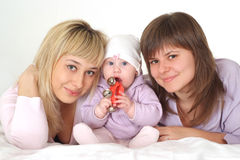 Family with baby Stock Photography