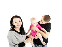 Family with they baby Stock Image