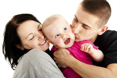 Family with they baby Royalty Free Stock Photos