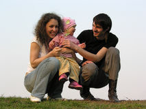 Family with baby Stock Photo