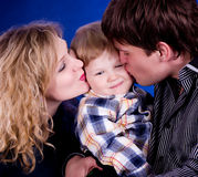Family with baby boy Stock Photos