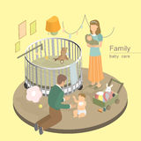 Family baby care concept Stock Photo