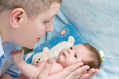 Family baby and father Royalty Free Stock Photography