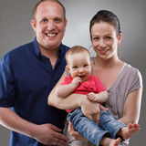 Family with baby girl Stock Photo