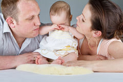 Family with baby girl Royalty Free Stock Photos