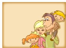 Family background,vector Stock Image