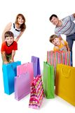 Family and bags Stock Photography