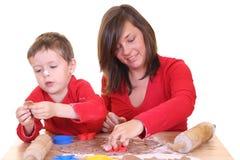 Family baking Royalty Free Stock Photography