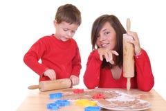 Family baking Royalty Free Stock Photo
