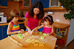 Family baking Royalty Free Stock Image