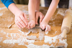 Family Baking Royalty Free Stock Photo