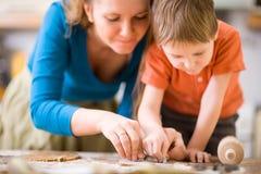 Family Baking Stock Photo