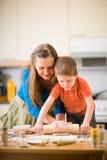 Family Baking Stock Image