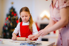 Family baking on Christmas eve Royalty Free Stock Photo
