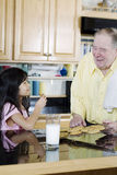 Family baking cookies together Royalty Free Stock Photography