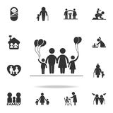 Family with ballons icon. Detailed set of human body part icons. Premium quality graphic design. One of the collection icons for w. Ebsites, web design, mobile Royalty Free Stock Images