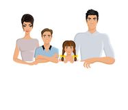 Family banner horizontal Stock Images