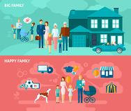 Family Banner Set Stock Photo