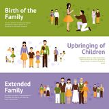 Family Banner Set Stock Photography