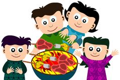 Family barbeque Royalty Free Stock Photography