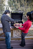 Family Barbeque Royalty Free Stock Images