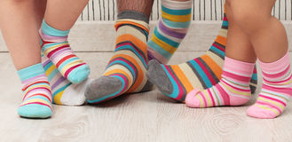 Family barefoot Royalty Free Stock Images