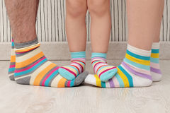 Family barefoot Stock Photography