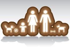 Family in basic Stock Image