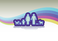 Family in basic Stock Images