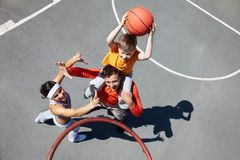 Family of basketball players Royalty Free Stock Photo
