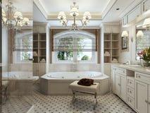 Family bathroom classic style Royalty Free Stock Photos