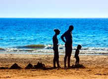 A family on the beach. Family on a beautiful day in summer Royalty Free Stock Images