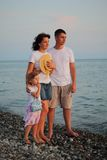 Family on beach Royalty Free Stock Photo