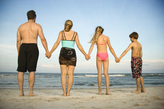 Family at the Beach Royalty Free Stock Images