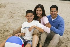 Family on Beach Royalty Free Stock Image