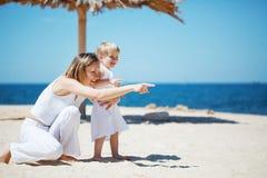 Family at beach Royalty Free Stock Photos