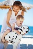Family at beach Stock Photos