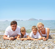 Family on the beach Royalty Free Stock Photo