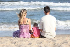 Family on the beach Royalty Free Stock Image