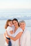 Family at the beach Stock Photos
