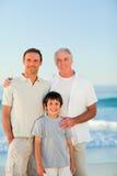 Family at the beach Royalty Free Stock Photo