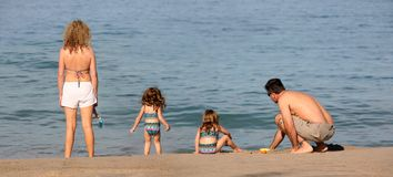 Family on the beach Royalty Free Stock Photography