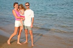 Family on a beach Royalty Free Stock Photo