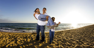 Family at the beach Royalty Free Stock Image