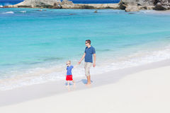 Family at the beach Stock Photography