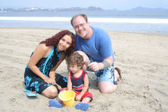Family Beach stock image