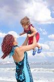 Family Beach royalty free stock photography
